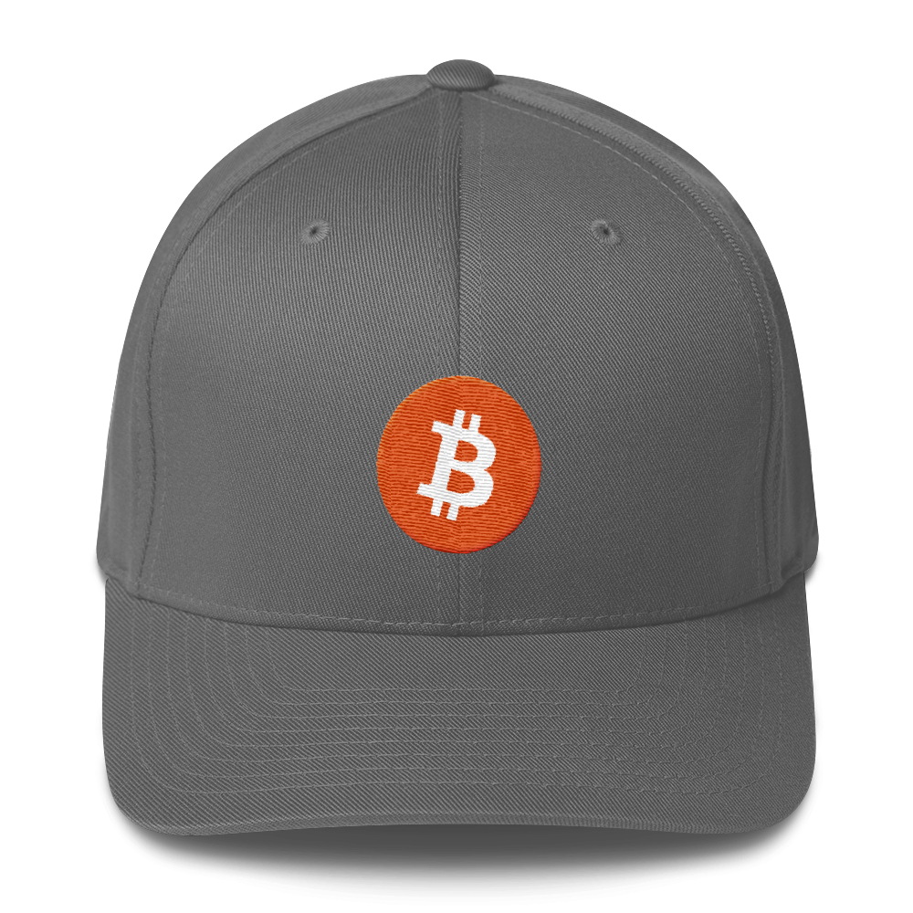 Bitcoin Core Flexfit Cap Grey S/M - zeroconfs