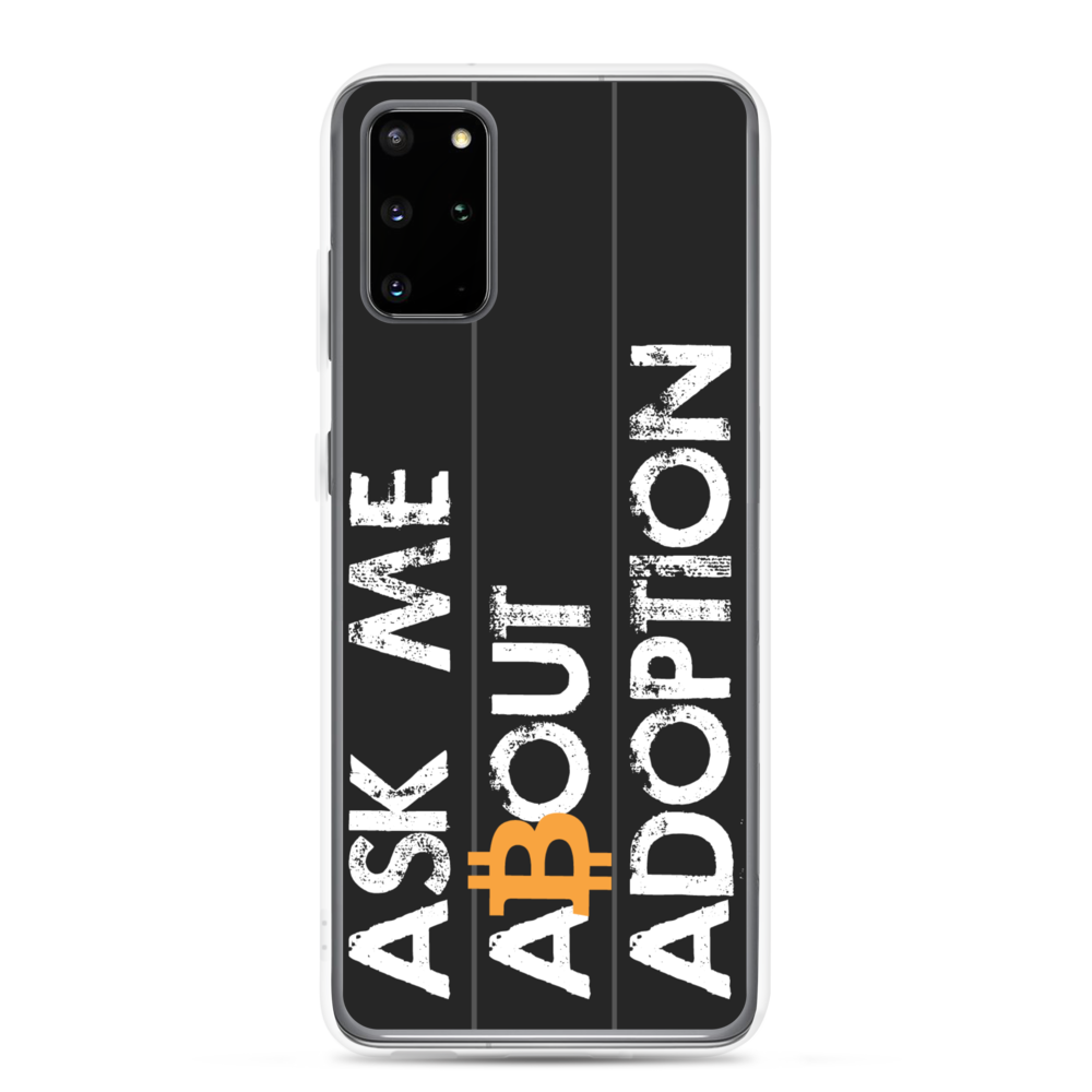 Ask Me About Adoption Bitcoin Samsung Case Samsung Galaxy S20 Plus  - zeroconfs