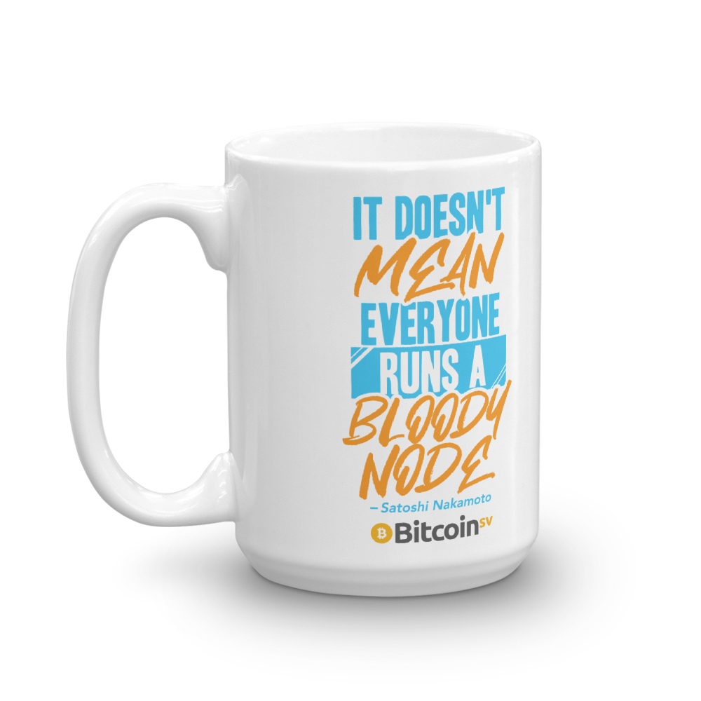 No Nodes Bitcoin SV Coffee Mug   - zeroconfs