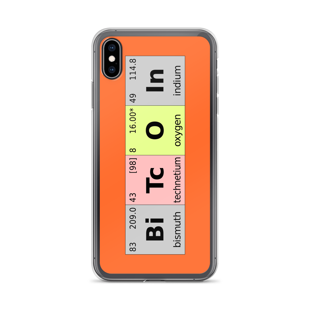 Bitcoin Periodic Table iPhone Case iPhone XS Max  - zeroconfs