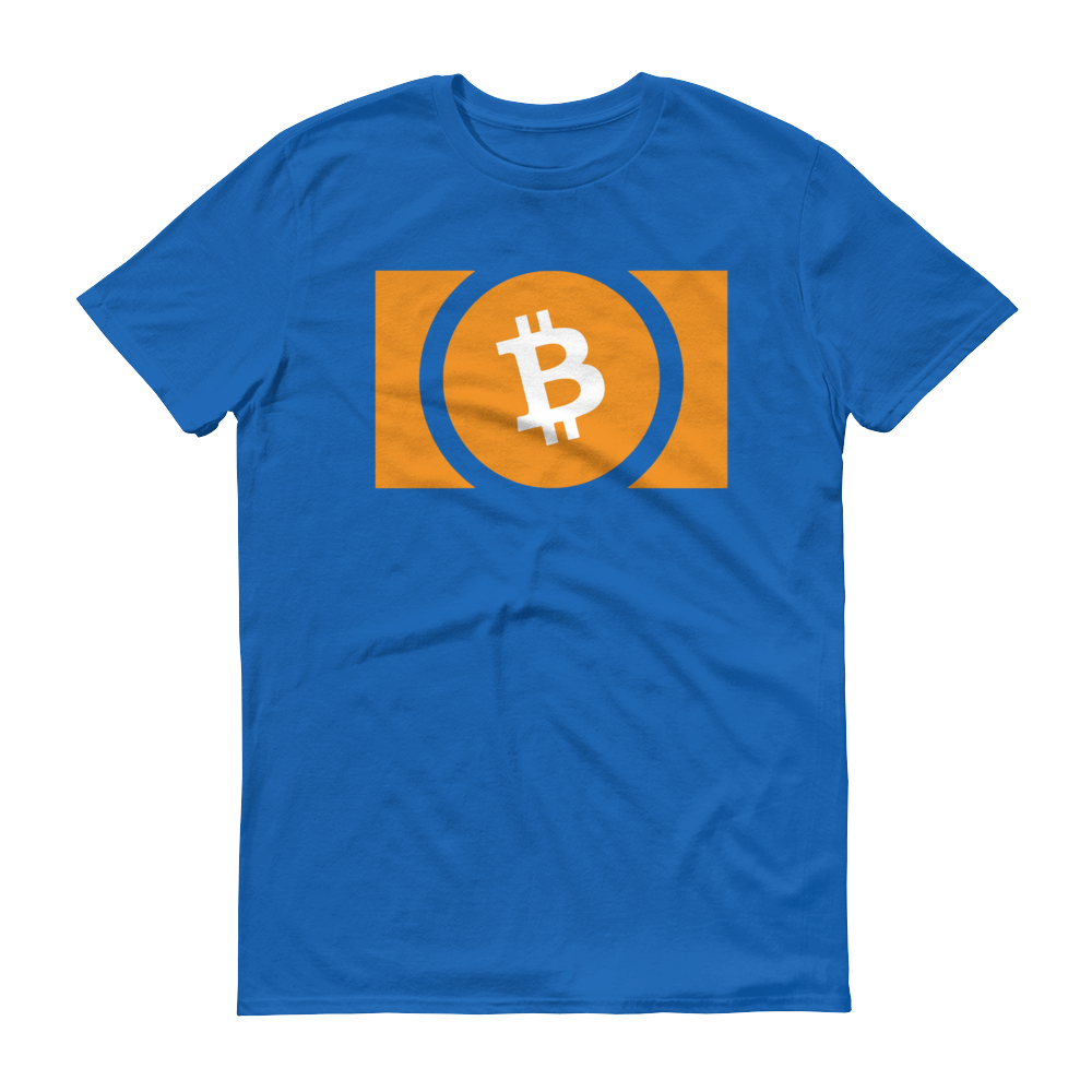 Bitcoin Cash Short-Sleeve T-Shirt Royal Blue S - zeroconfs