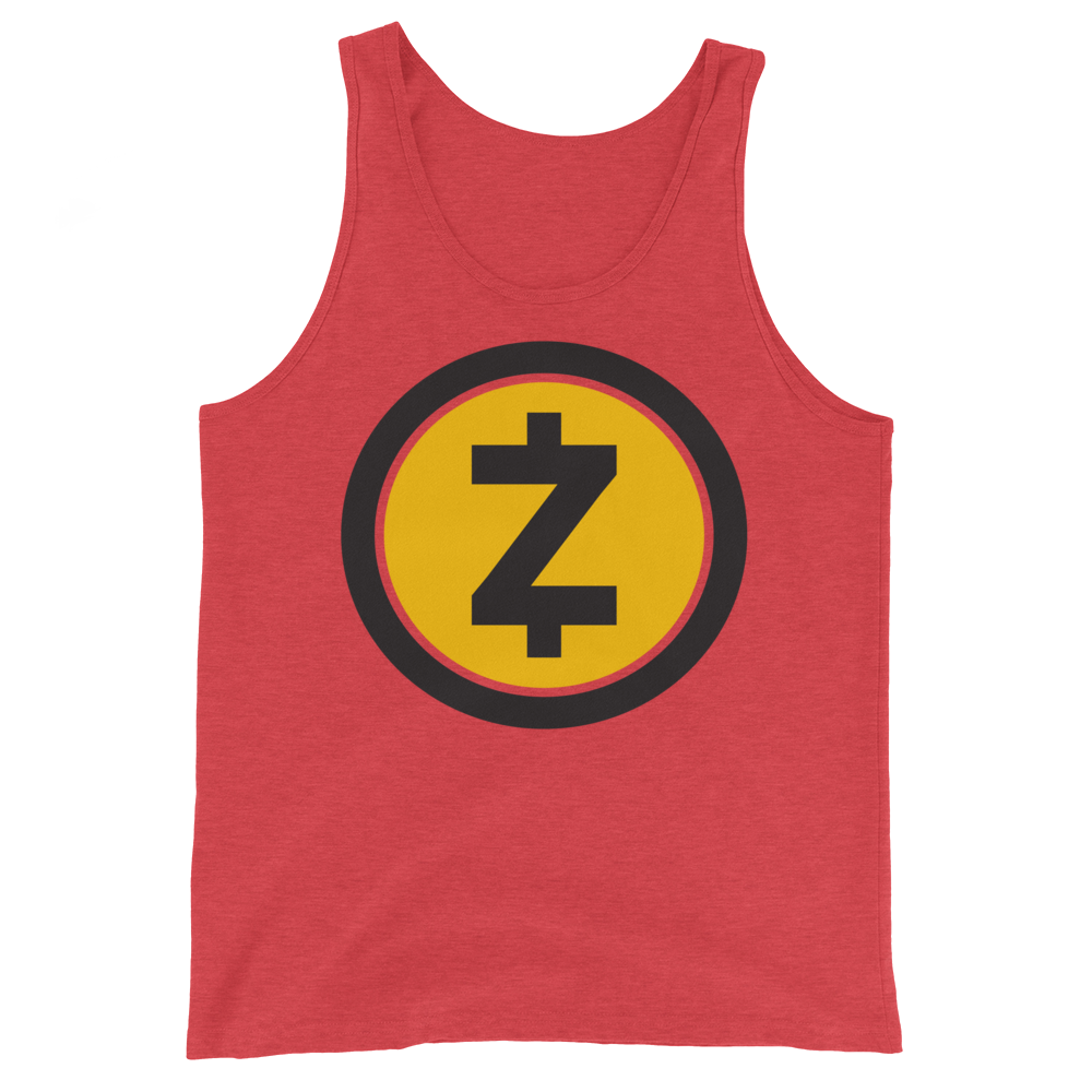 Zcash Tank Top Red Triblend XS - zeroconfs