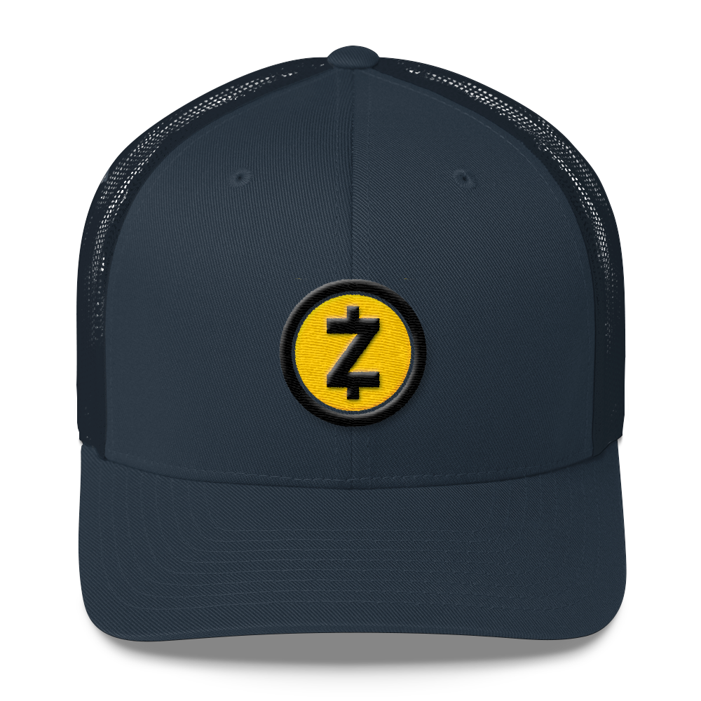 Zcash Trucker Cap Navy  - zeroconfs