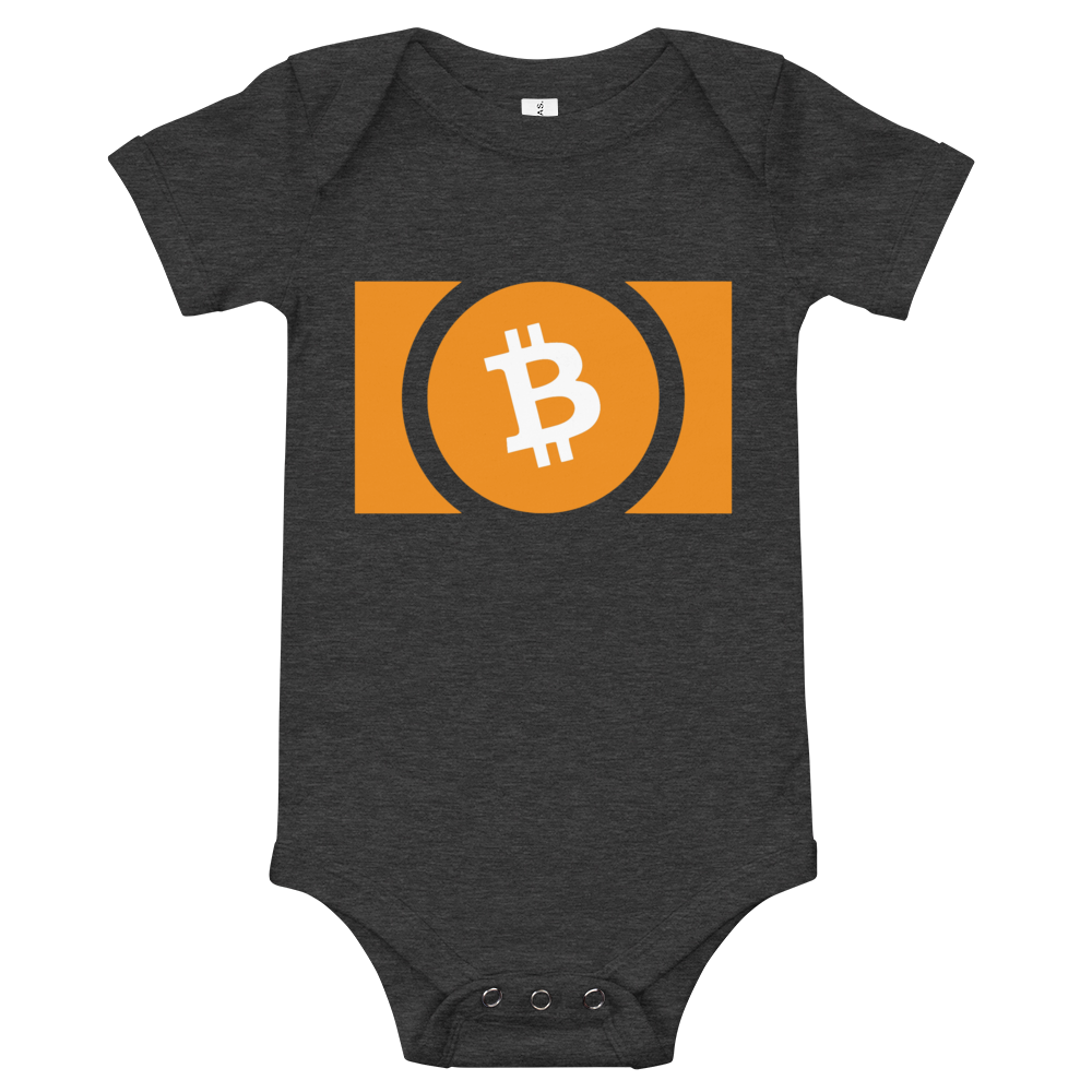 Bitcoin Cash Baby Bodysuit Dark Grey Heather 3-6m - zeroconfs