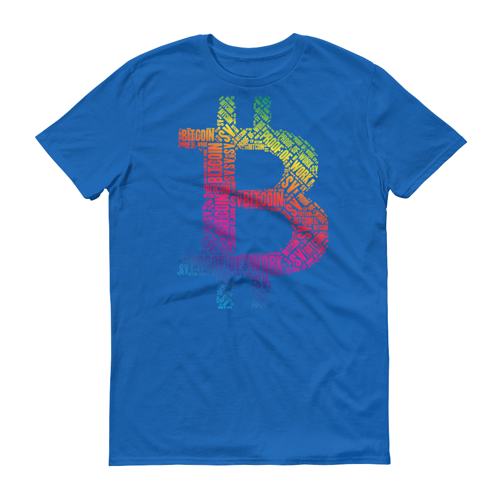 Bitcoin SV Proof Of Work Short-Sleeve T-Shirt Royal Blue S - zeroconfs