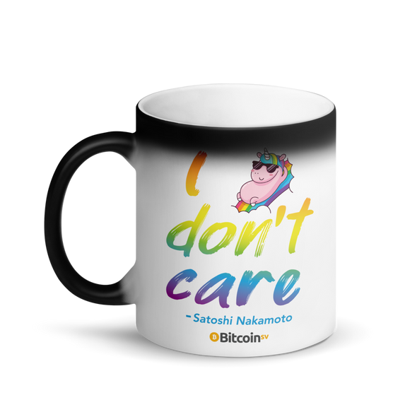 I Don't Care Bitcoin SV Magic Mug   - zeroconfs