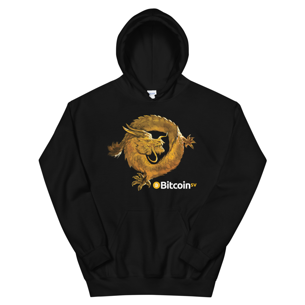 Bitcoin SV Woken Dragon Women's Hooded Sweatshirt Black S - zeroconfs