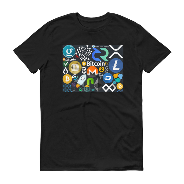 Crypto Calling Short-Sleeve T-Shirt Black S - zeroconfs