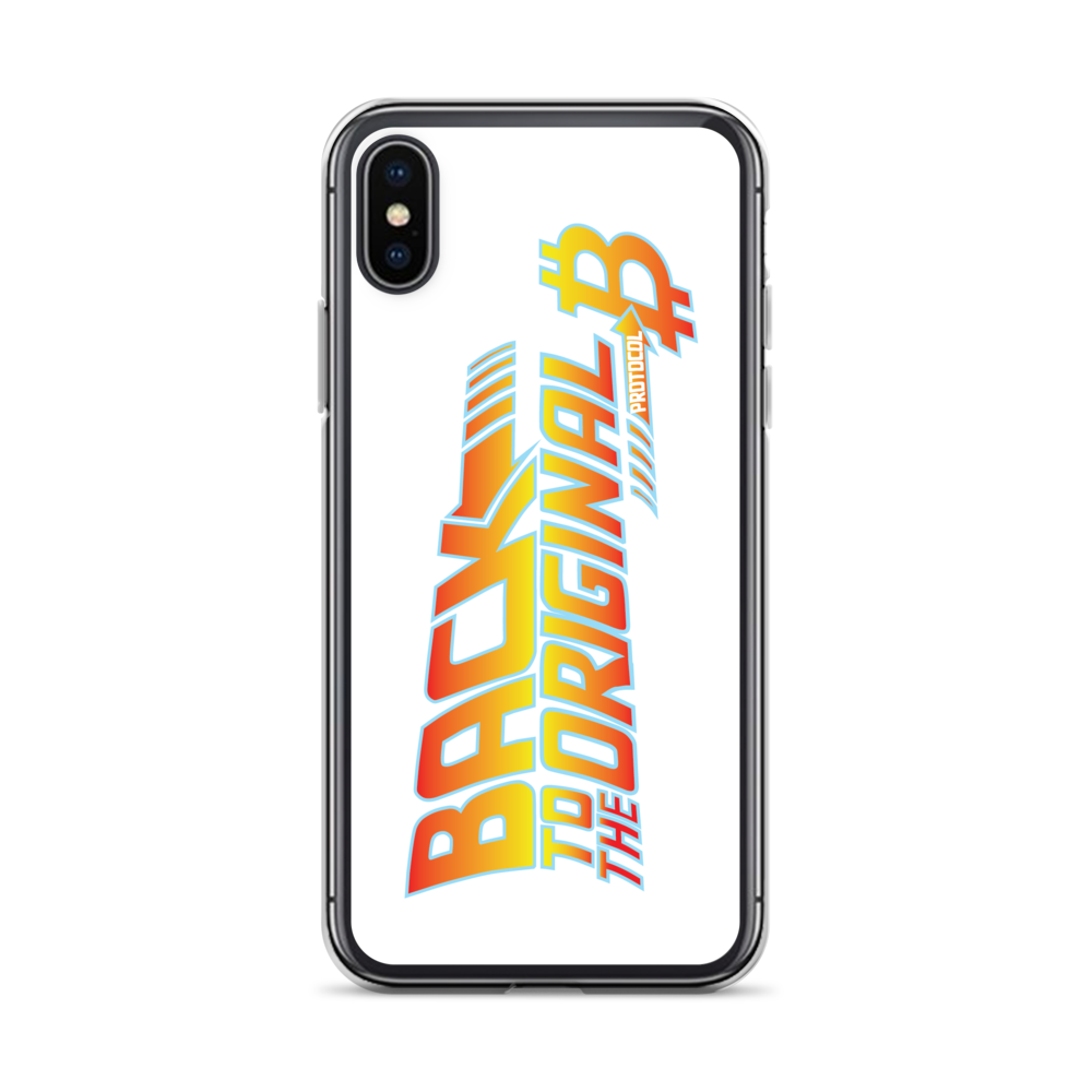 Back To The Original Bitcoin Protocol iPhone Case White iPhone X/XS  - zeroconfs