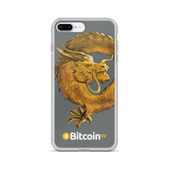 Bitcoin SV Woken Dragon iPhone Case Gray iPhone 7 Plus/8 Plus  - zeroconfs