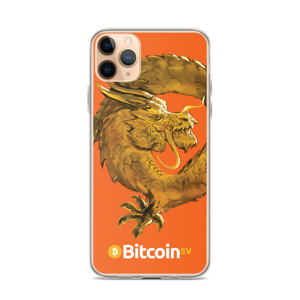 Bitcoin SV Woken Dragon iPhone Case Orange iPhone 11 Pro Max  - zeroconfs