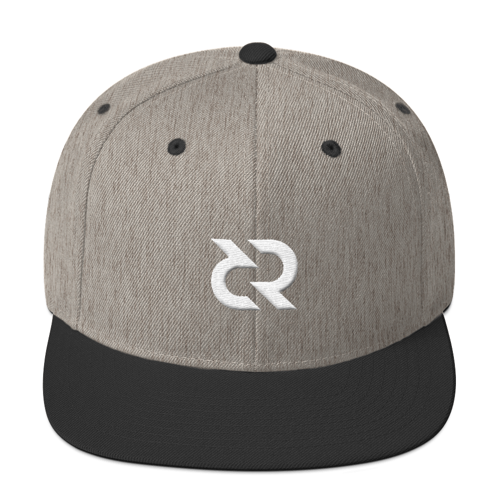 Decred Snapback Hat Heather/Black  - zeroconfs