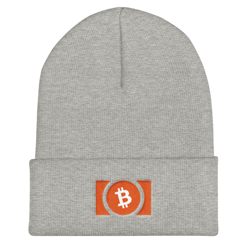 Bitcoin Cash Cuffed Beanie Heather Grey  - zeroconfs