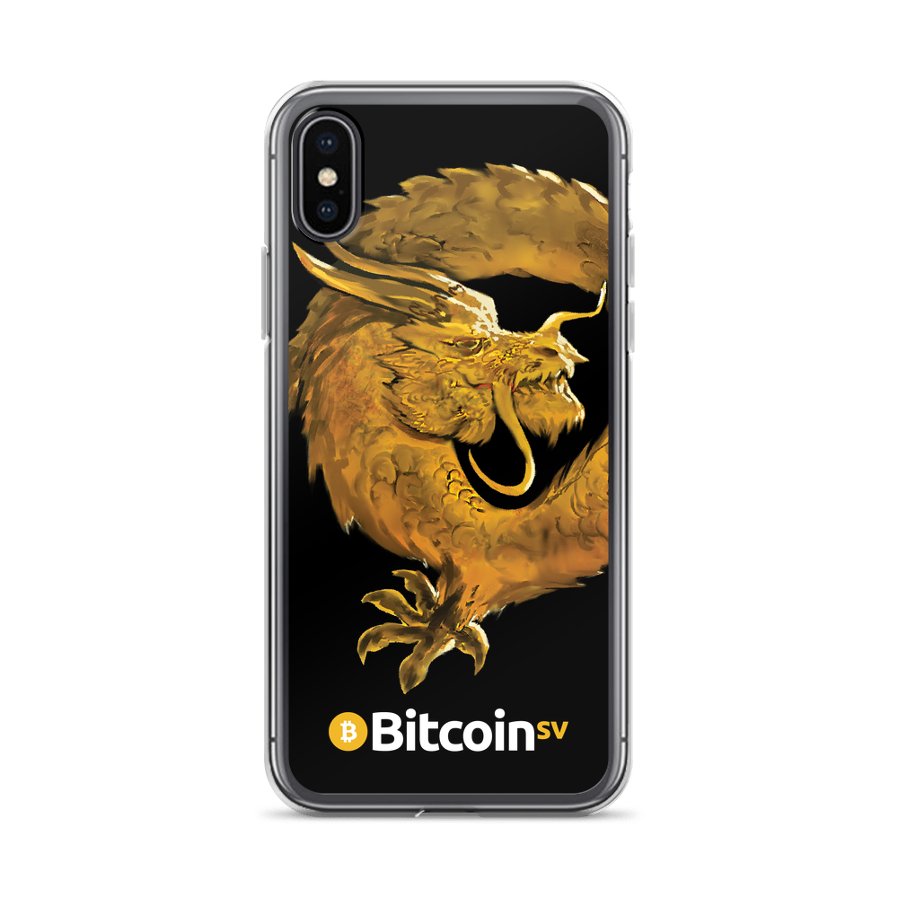 Bitcoin SV Woken Dragon iPhone Case Black iPhone X/XS  - zeroconfs
