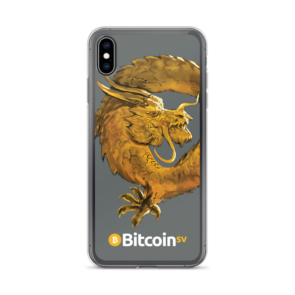 Bitcoin SV Woken Dragon iPhone Case Gray iPhone XS Max  - zeroconfs