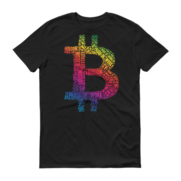 Bitcoin SV Proof Of Work Short-Sleeve T-Shirt Black S - zeroconfs