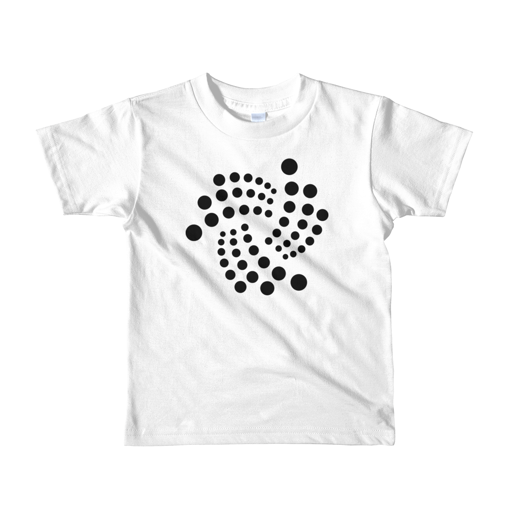 IOTA Short Sleeve Kids T-Shirt White 2yrs - zeroconfs
