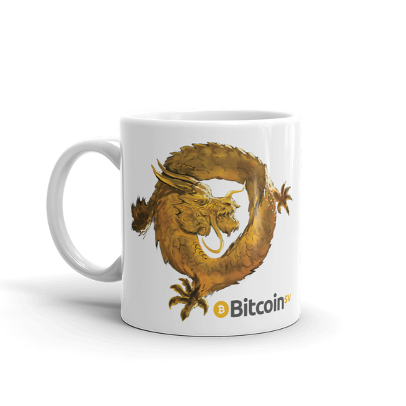 Bitcoin SV Woken Dragon Coffee Mug   - zeroconfs