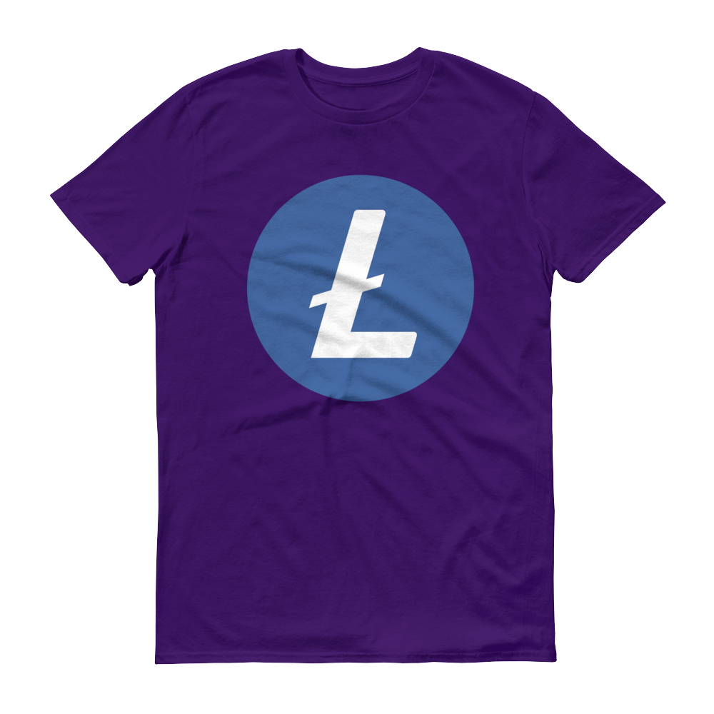 Litecoin Short-Sleeve T-Shirt Purple S - zeroconfs