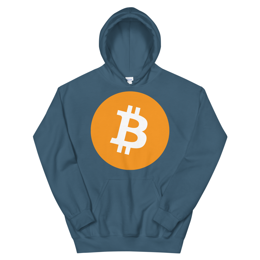 Bitcoin Core Hooded Sweatshirt Indigo Blue S - zeroconfs