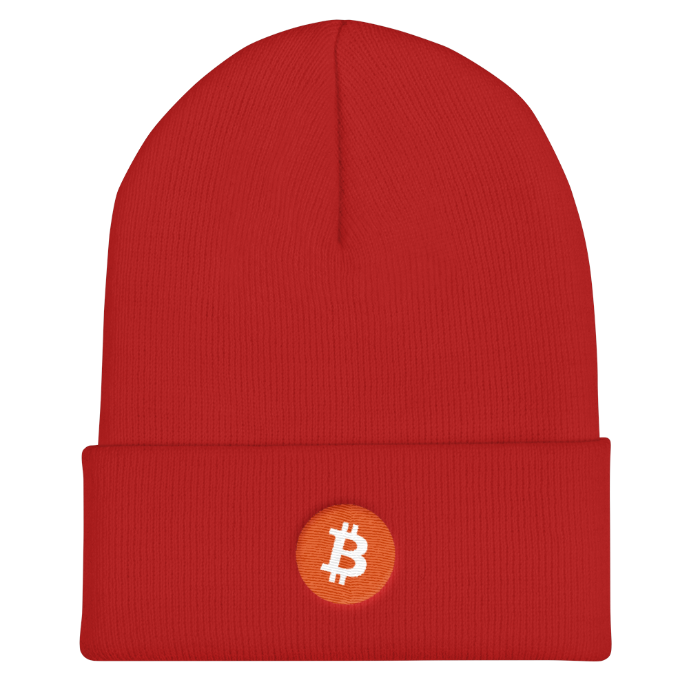 Bitcoin Core Cuffed Beanie Red  - zeroconfs