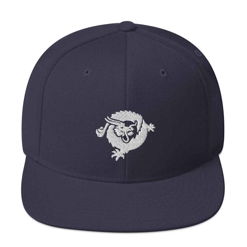Bitcoin SV Dragon Snapback Hat White Navy  - zeroconfs