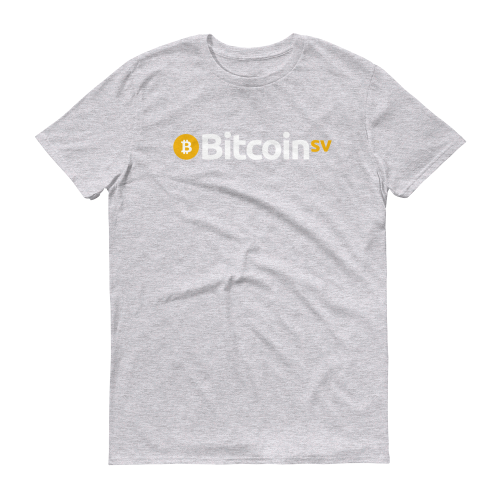 Bitcoin SV Short-Sleeve T-Shirt Heather Grey S - zeroconfs