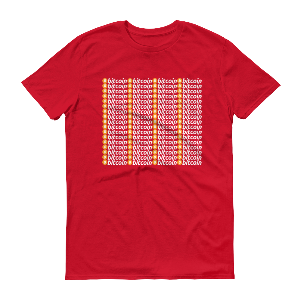 Bitcoins Short-Sleeve T-Shirt Red S - zeroconfs