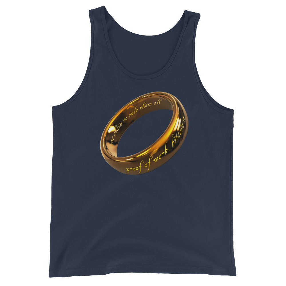 One Chain To Rule Them All Bitcoin SV Tank Top Navy XS - zeroconfs