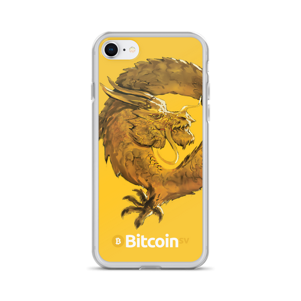 Bitcoin SV Woken Dragon iPhone Case Yellow iPhone 7/8  - zeroconfs