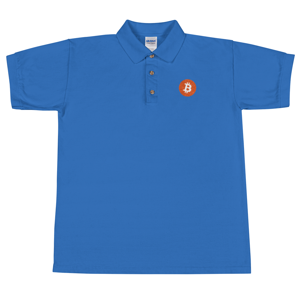 Bitcoin Core Embroidered Polo Shirt Royal S - zeroconfs
