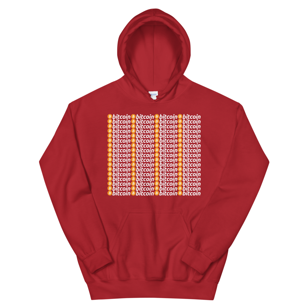 Bitcoins Hooded Sweatshirt Red S - zeroconfs