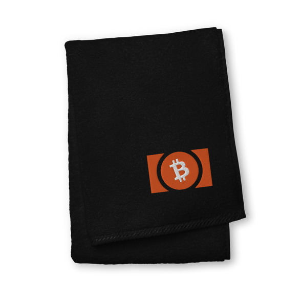 Bitcoin Cash Premium Embroidered Towel Black Hand Towel - zeroconfs