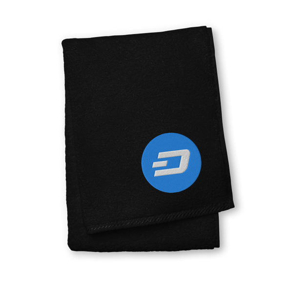 Dash Premium Embroidered Towel Black Hand Towel - zeroconfs