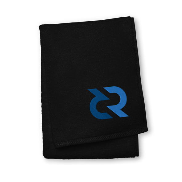 Decred Premium Embroidered Towel Black Hand Towel - zeroconfs