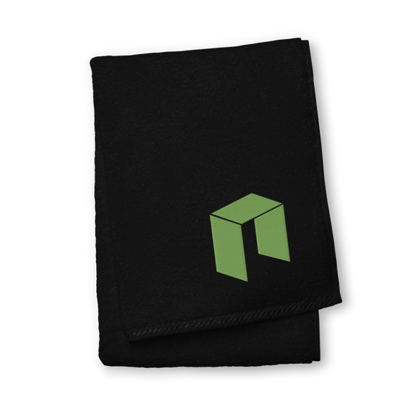 NEO Premium Embroidered Towel Black Hand Towel - zeroconfs