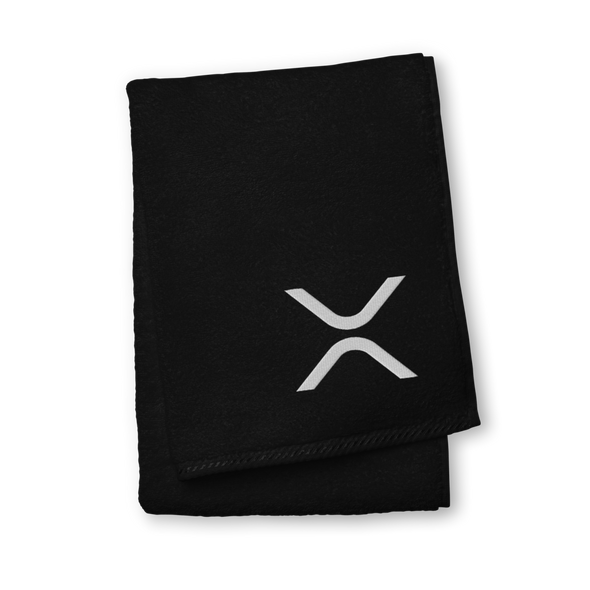 Ripple Premium Embroidered Towel Black Hand Towel - zeroconfs