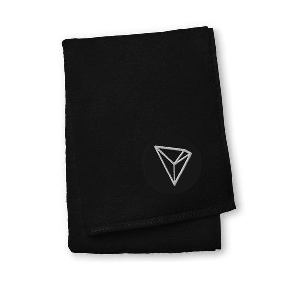 Tron Premium Embroidered Towel Black Hand Towel - zeroconfs