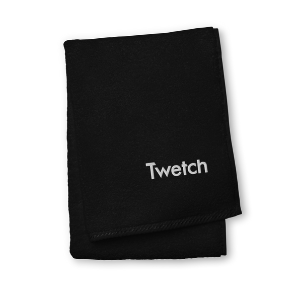 Twetch Premium Embroidered Towel Black Hand Towel - zeroconfs