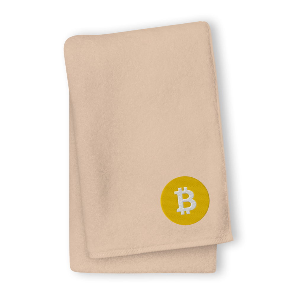 Bitcoin SV Logo Premium Embroidered Towel Sand GIANT Towel - zeroconfs