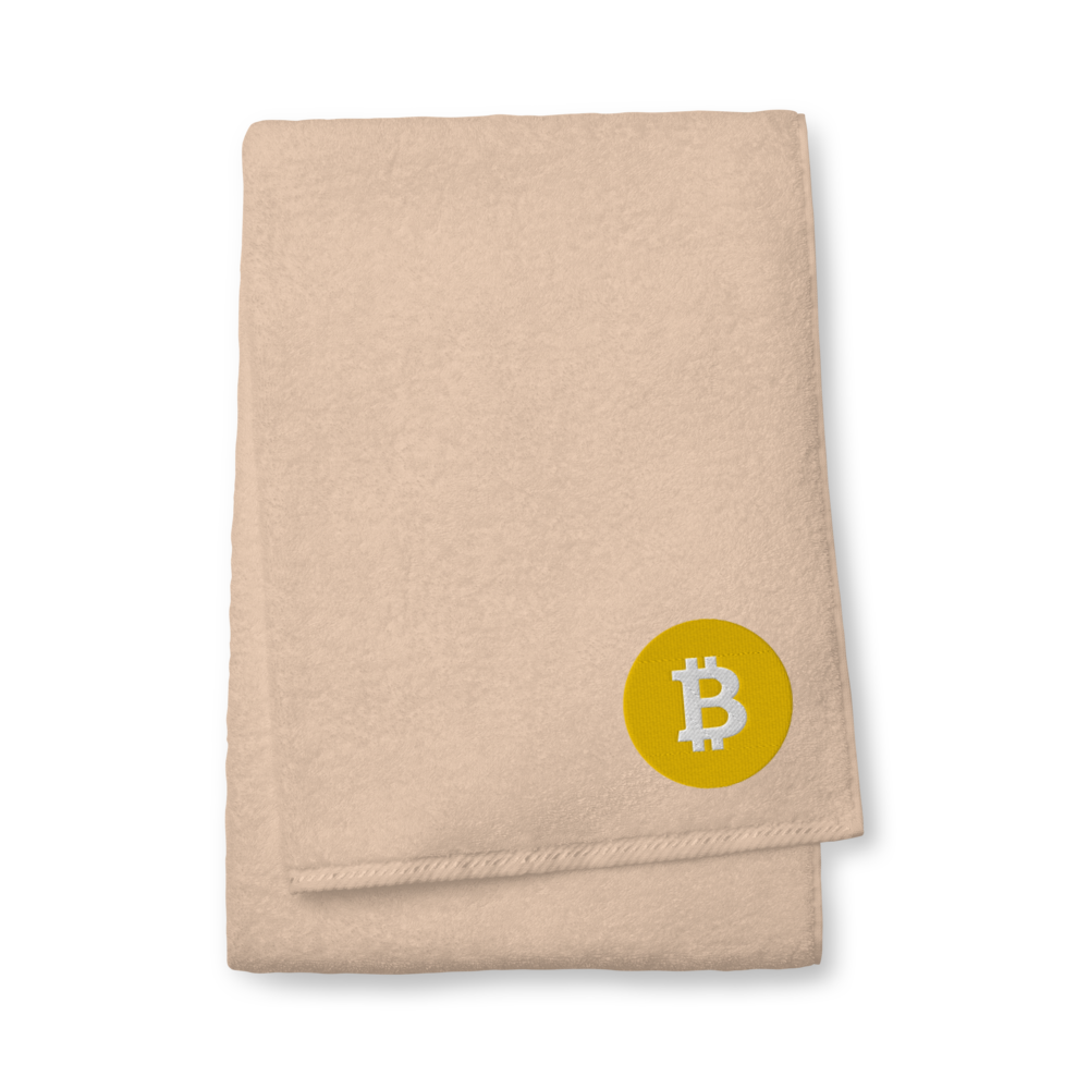 Bitcoin SV Logo Premium Embroidered Towel Sand Bath Towel - zeroconfs