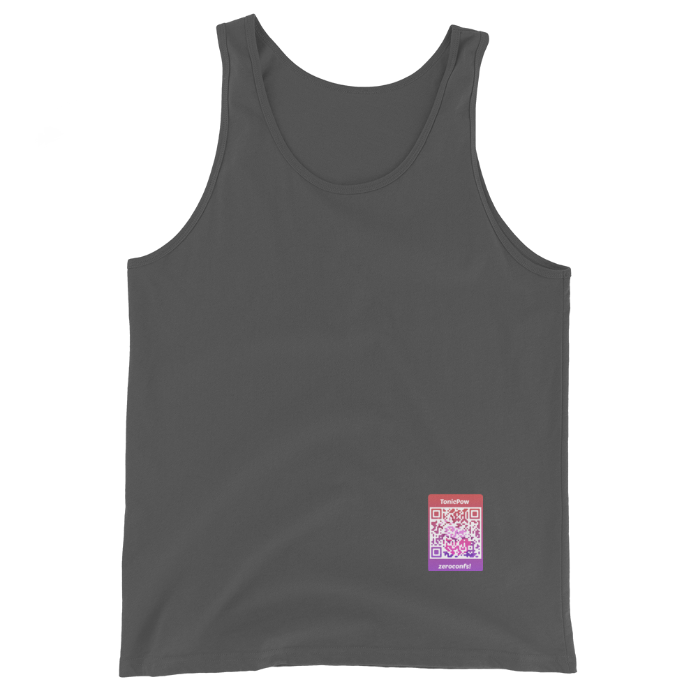 TonicPow Official Customizable Tank Top Asphalt XS - zeroconfs
