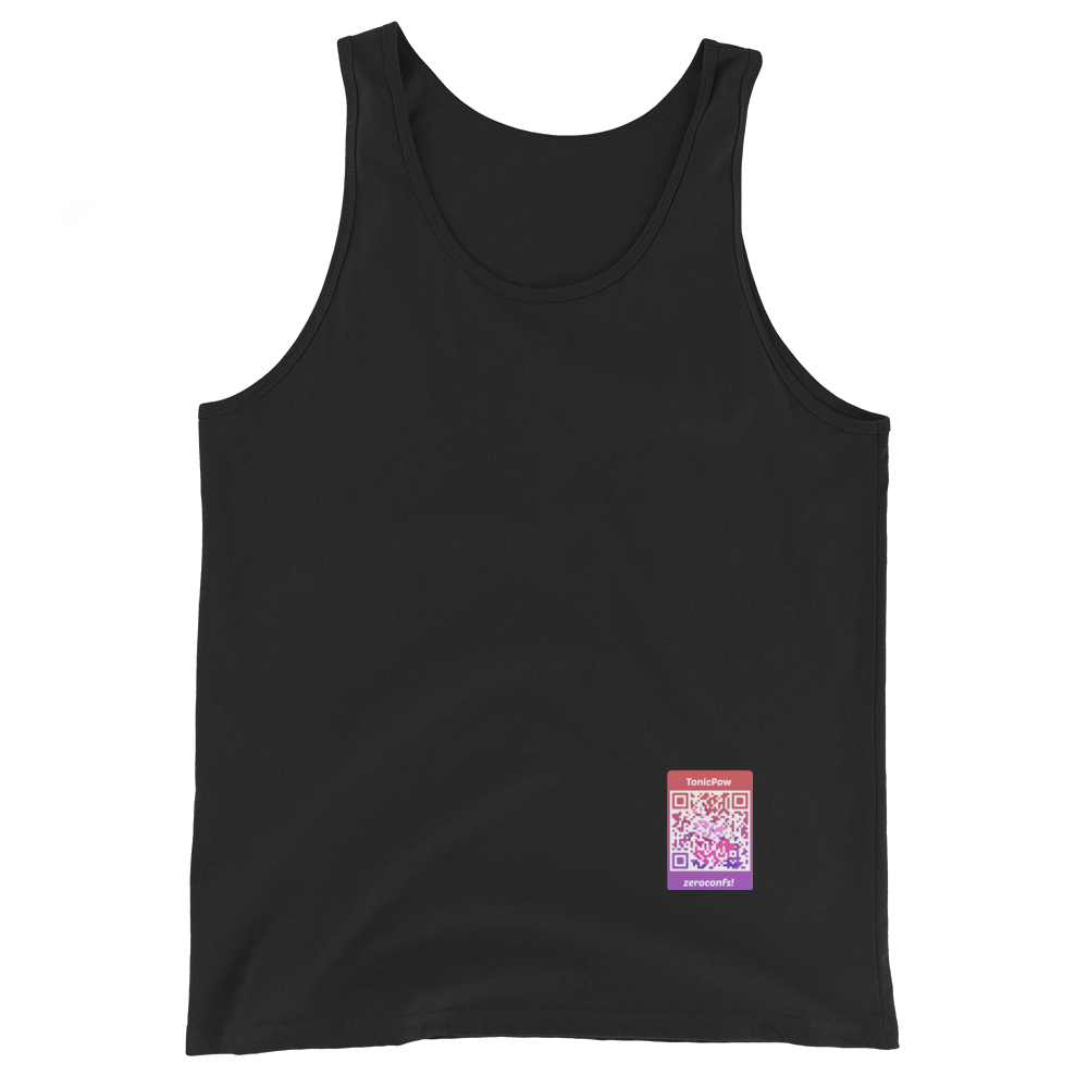 TonicPow Official Customizable Tank Top Black XS - zeroconfs