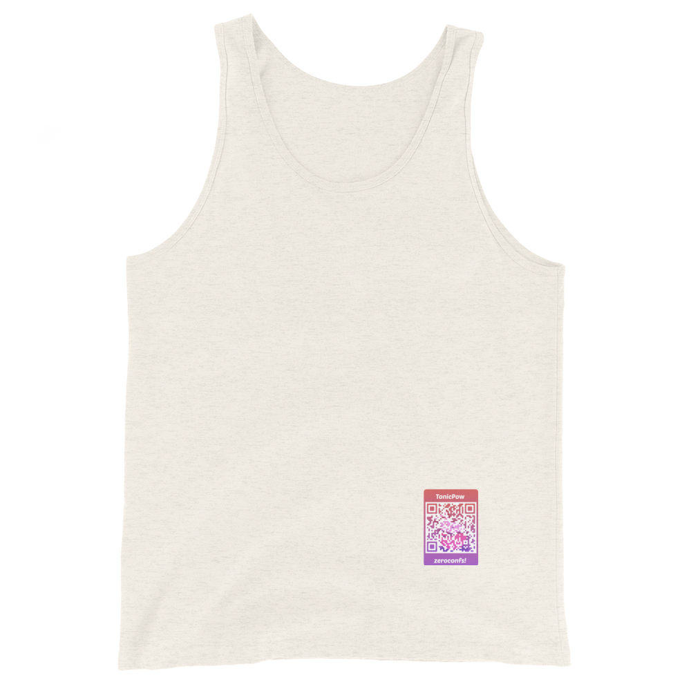 TonicPow Official Customizable Tank Top Oatmeal Triblend XS - zeroconfs
