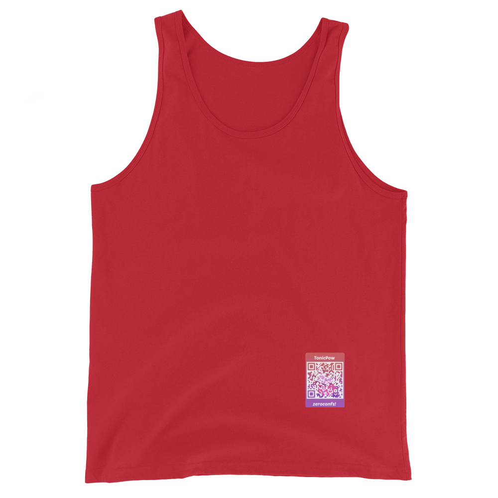 TonicPow Official Customizable Tank Top Red XS - zeroconfs