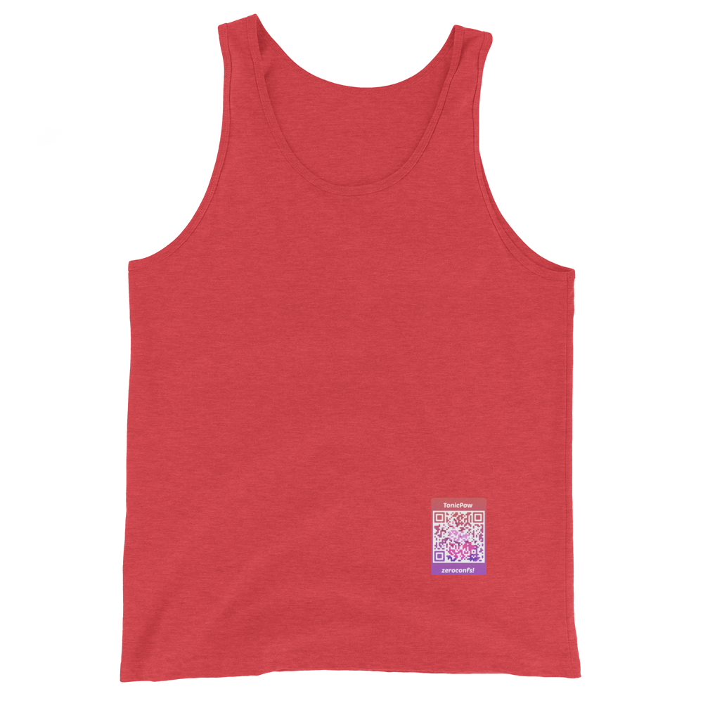 TonicPow Official Customizable Tank Top Red Triblend XS - zeroconfs