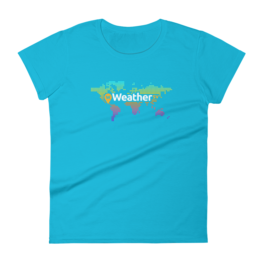 Weather SV Women's T-Shirt Caribbean Blue S - zeroconfs