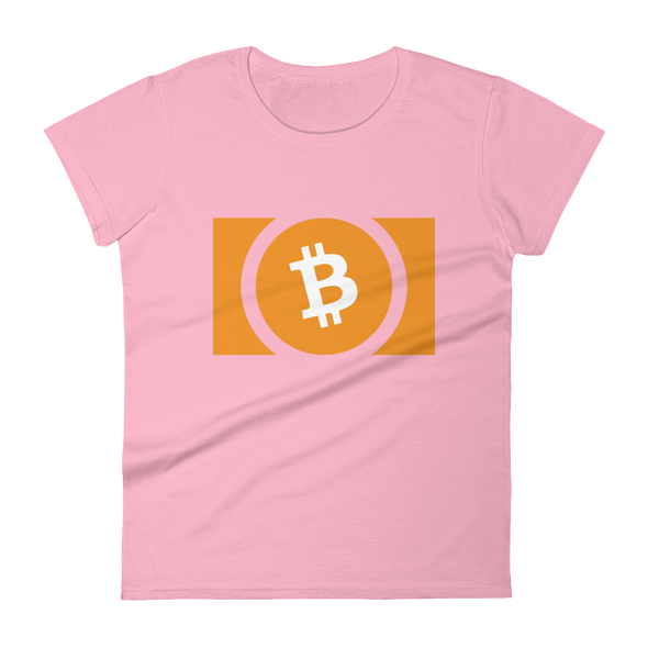 Bitcoin Cash Women's T-Shirt Charity Pink S - zeroconfs