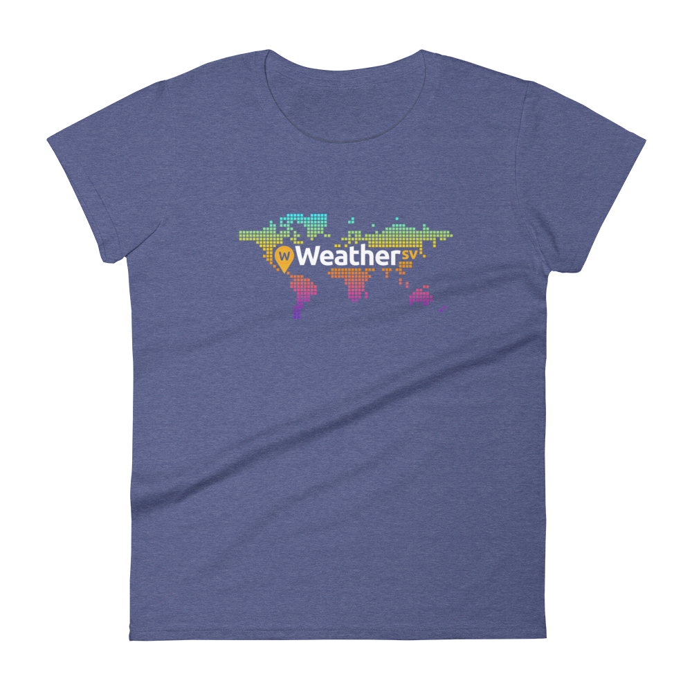 Weather SV Women's T-Shirt Heather Blue S - zeroconfs