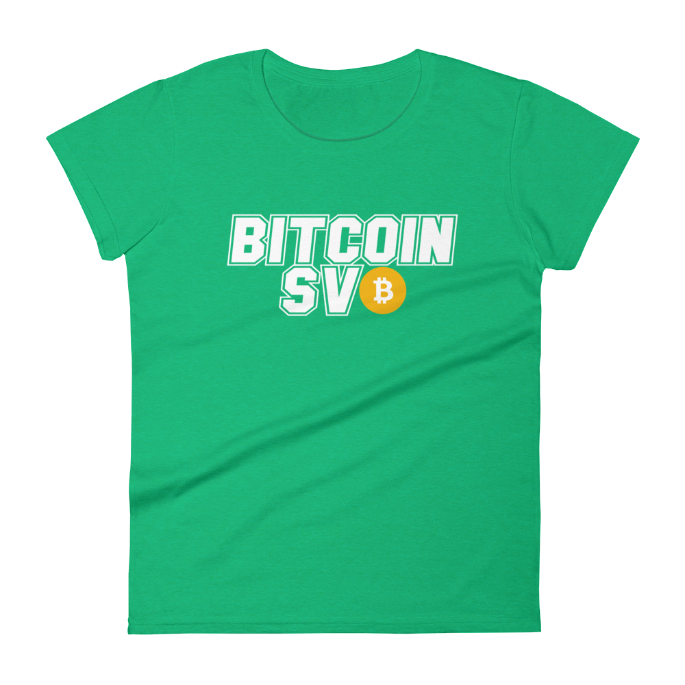 Bitcoin SV Sports Women's T-Shirt Heather Green S - zeroconfs
